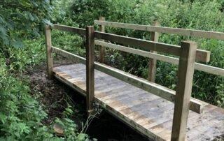 Construction of small bridge